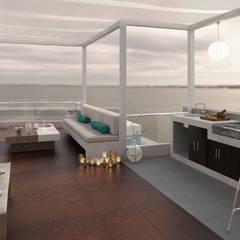 Casa de Playa - Mejía: Salas / recibidores de estilo  por Inception Architects