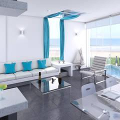 Casa de Playa - Mejía: Salas de entretenimiento de estilo  por Inception Architects