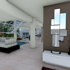 Diseño interior: Salas / recibidores de estilo  por Vida Arquitectura