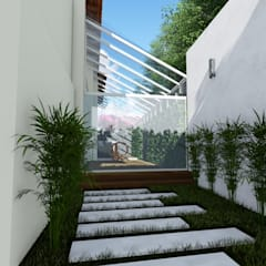 Quinta La Revoltosa: Jardines de piedras de estilo  por Vida Arquitectura
