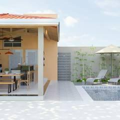 مسبح حديقة تنفيذ Daniela Ponsoni Arquitetura