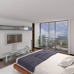 Vista interior: Habitaciones de estilo moderno por MSA Arquitectos