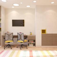 3-комнатная квартина в ЖК Оранж Хаус: Детские комнаты в . Автор – Гузалия Шамсутдинова | KUB STUDIO