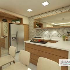 مطبخ تنفيذ Arquiteta Jéssica Hoegenn - Arquitetura de Interiores,