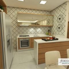 Cozinha: Cozinhas tropicais por Arquiteta Jéssica Hoegenn - Arquitetura de Interiores