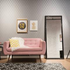 Studio Ideação Ruang Komersial Modern Komposit Kayu-Plastik Pink