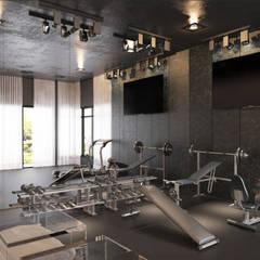 Gimnasios en casa de estilo moderno por Enrich Artlife & Interior Design Sdn Bhd