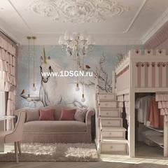غرفة نوم بنات تنفيذ Дизайн студия 'Дизайнер интерьера № 1'