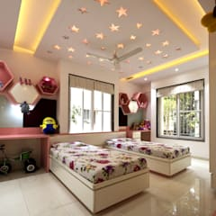Chambre fille de style  par GREEN HAT STUDIO PVT LTD