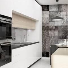 Dom bliźniak Kraków: styl , w kategorii Kuchnia zaprojektowany przez Pracownia Projektowa BOPROJEKT