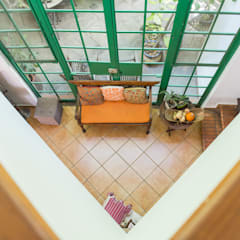 Doble Altura: Salas de estilo mediterraneo por Bojorquez Arquitectos SA de CV