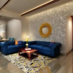 LIVING ROOM:  Living room by A Design Studio