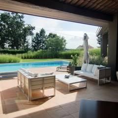 Jardin de graminées: Terrasse de style  par KAEL Createur de jardins