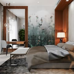 Апартаменты в ЖК Актер-Гэлэкси, в г. Сочи: Спальни в . Автор – Dinastia Designs