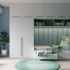 Projekty,  Pokój dla chłopca zaprojektowane przez Dinastia Designs