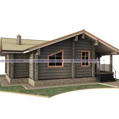 Дом из лафета: Деревянные дома в . Автор – Projectstroy