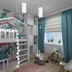 FLAMINGO - POKÓJ DZIEWCZYNKI: styl , w kategorii Pokój dla dziecka zaprojektowany przez Creoline