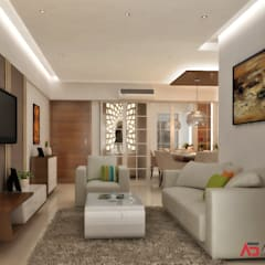 LIVING & DINING:  Living room by A Design Studio