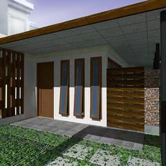 Casas unifamilares de estilo  de Kahuripan Architect, Tropical Madera Acabado en madera