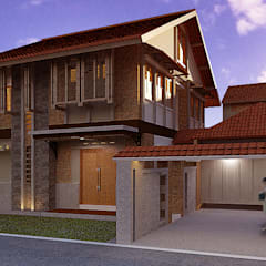Casas unifamilares de estilo  de Kahuripan Architect, Tropical Ladrillos