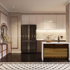 Nội thất căn hộ Vinhomes Central Park thiết kế theo phong cách Đông Dương:  Nhà bếp by ICON INTERIOR