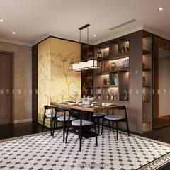 Nội thất căn hộ Vinhomes Central Park thiết kế theo phong cách Đông Dương:  Phòng ăn by ICON INTERIOR