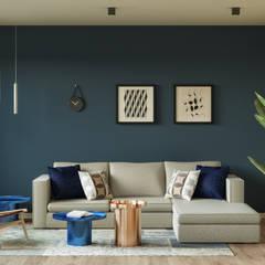 Reforma y renovación de el salón - comedor  de un  piso por Isabel Comez: Salones de estilo  de Isabel Gomez Interiors