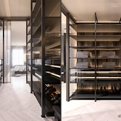Apartment on the island of Grand Jutt: Гардеробные в . Автор – Diff.Studio