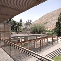 Casa ''La Pendiente'': Terrazas de estilo  por Artem arquitectura