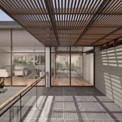 Casa ''La Pendiente'': Techos de estilo  por Artem arquitectura