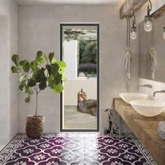 Baños de estilo mediterráneo por architetto stefano ghiretti