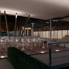 Restaurante Puerto: Bares y Clubs de estilo  por Artem arquitectura