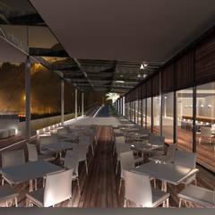 Restaurante Puerto: Restaurantes de estilo  por Artem arquitectura,