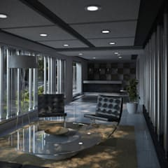 Multifamiliar Miraflores: Salas / recibidores de estilo  por Artem arquitectura,