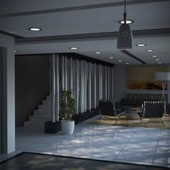 Multifamiliar Miraflores: Salas / recibidores de estilo moderno por Artem arquitectura