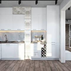 Cocinas de estilo  por Студия архитектуры и дизайна Дарьи Ельниковой, Industrial