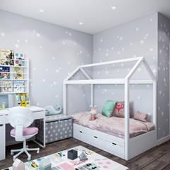 غرفة الاطفال تنفيذ Студия архитектуры и дизайна Дарьи Ельниковой, صناعي