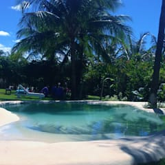 天然泳池 by Bebig Brasil. Piscinas de Areia, 現代風 石器