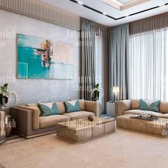 Art architecture and design of Katrina Antonovich:  Living room by Luxury Antonovich Design