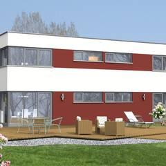 Ökohaus der Woche KW 14/2018. Haus Idee Flachdachhaus:  Holzhaus von SI-Massivhaus