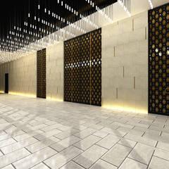 우즈베키스탄 한국문화예술의집 인테리어 설계: atelier longo 아뜰리에 롱고의  계단