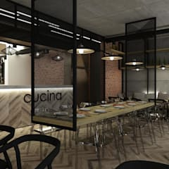 pizzeria w Warszawie od BAK Architekci Industrialny