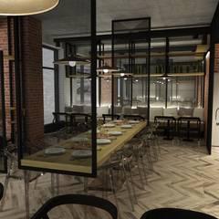 pizzeria w Warszawie: styl , w kategorii Gastronomia zaprojektowany przez BAK Architekci,