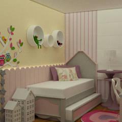 MN Arquitetura e Urbanismo:  tarz Kız çocuk yatak odası