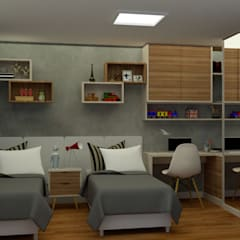 Teen bedroom by MN Arquitetura e Urbanismo