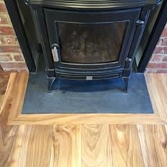 Wood burning stove:  Living room by Ben Sutton (Timber) Ltd