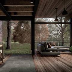 CASA TUL.: Salas de estilo  por JCh Arquitectura