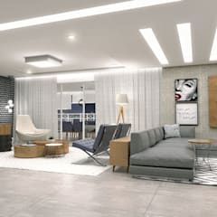 Sala de Estar: Salas de estar  por Conceito22 Arquitetura Inteligente