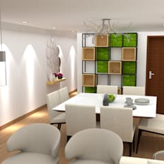Diseño sala - comedor : Comedores de estilo  por DIS.OLIVER QUIJANO
