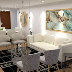 Diseño sala - comedor : Salas / recibidores de estilo moderno por Dis.Oliver Quijano